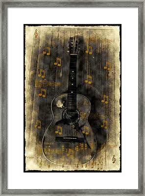 Folk Guitar Framed Print by Bill Cannon