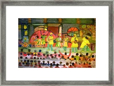 Folk Play Framed Print by Philip Okoro