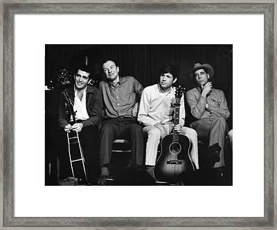Folk Singers 1964 Framed Print