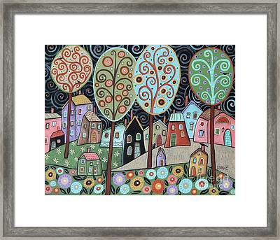 Folk Village Framed Print by Karla Gerard