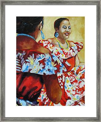 Folklorica II Framed Print by Monica Linville