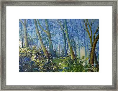 Follow Me Oil Painting Of A Magic Forest Framed Print