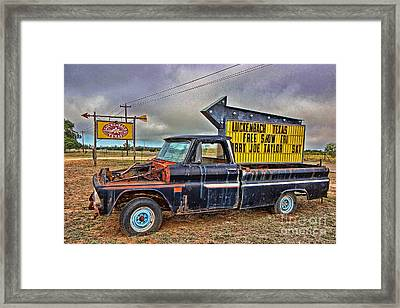 Follow Me To Luckenbach Framed Print