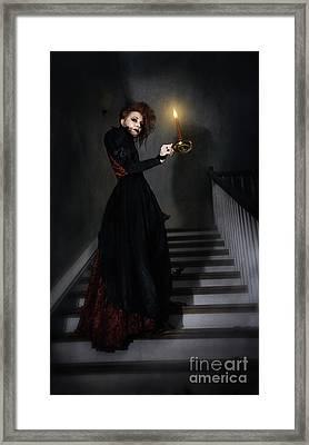 Follow Framed Print by Spokenin RED