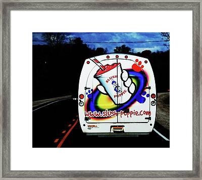 Follow That Van Framed Print by Cyryn Fyrcyd