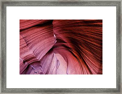 Framed Print featuring the photograph Follow The Curves by Stephen Holst