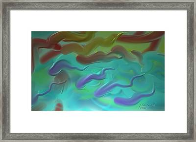 Framed Print featuring the painting Follow The Leader by Kevin Caudill