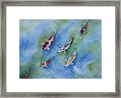 Follow The Leader Framed Print by Tracey Hunnewell