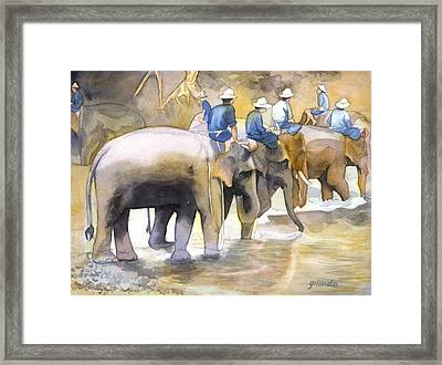 Follow The Leader Framed Print by Yolanda Koh