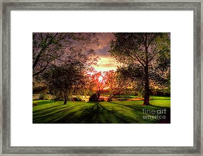 Follow The Light Framed Print by Kim Shatwell-Irishphotographer