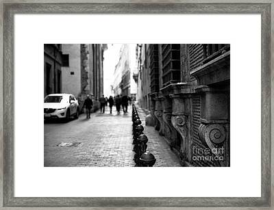 Follow The Line In Rome Framed Print by John Rizzuto