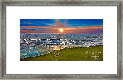 Follow The One True Light Framed Print