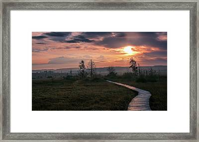 Follow The Path Framed Print by Dominic Schroeyers