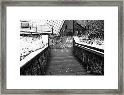 Follow The Path Down In Salzburg Framed Print by John Rizzuto