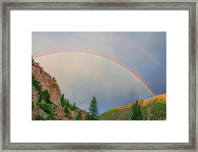 Follow The Rainbow To The Majestic Rockies Of Colorado.  Framed Print