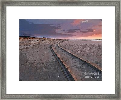 Framed Print featuring the photograph Follow The Sandy Road by Carol Grimes