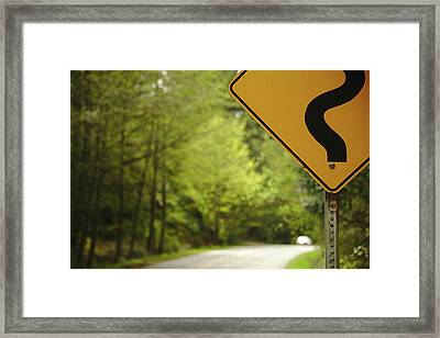 Follow The Sign Framed Print by Cendrine Marrouat