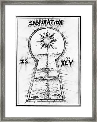 Follow Your Inspiration  Framed Print
