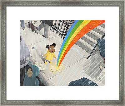 Follow Your Rainbow Framed Print