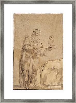 Follower Of Salvator Rosa Framed Print
