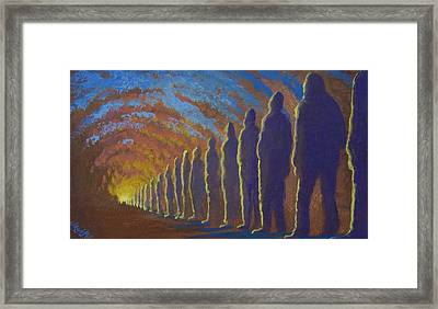 Followers Of The Light Framed Print by Marjorie Hause