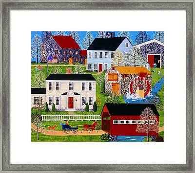 Followin' Mama Framed Print by Susan Henke