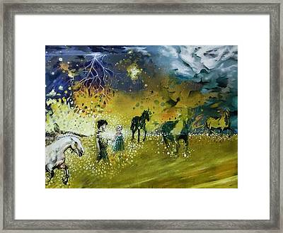 Following Esme Framed Print