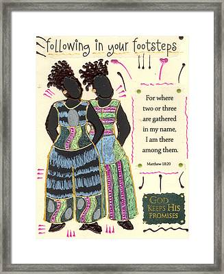 Following In Your Footsteps Framed Print by Angela L Walker