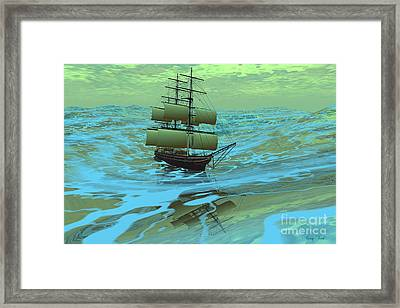 Following Sea Framed Print