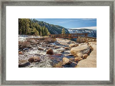 Following The Falls Framed Print