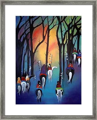 Following The Trail Of The Ancestors Framed Print