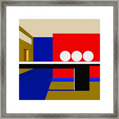 Following Through Framed Print by Richard Rizzo