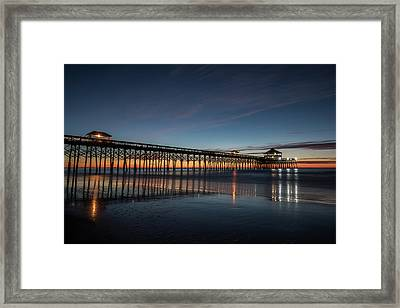 Folly Beach Pier Before Sunrise Framed Print