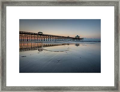 Folly Beach South Carolina Pier Framed Print
