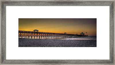 Folly Beach Pier Sunrise 2 Charleston South Carolina Art Framed Print