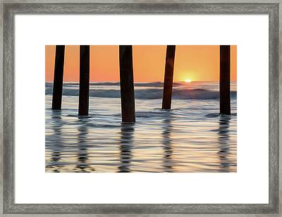 Folly Beach Sunrise Charleston South Carolina Framed Print by Mark VanDyke