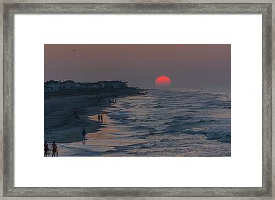Folly Beach Sunrise Framed Print by RC Pics