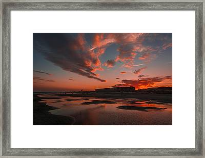 Folly Beach Sunset Framed Print
