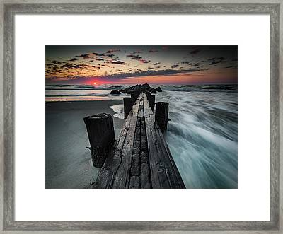 Folly Beach Tale Of Two Sides Framed Print