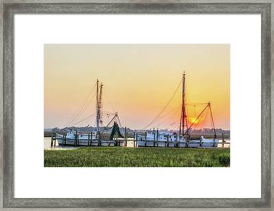 Folly Creek Fishing  Framed Print by Drew Castelhano