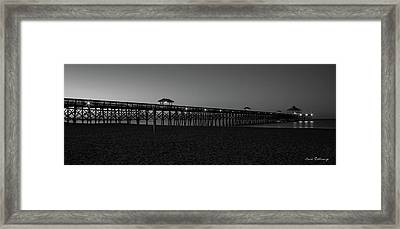 Folly Dawn Folly Beach Pier Charleston South Carolina Framed Print