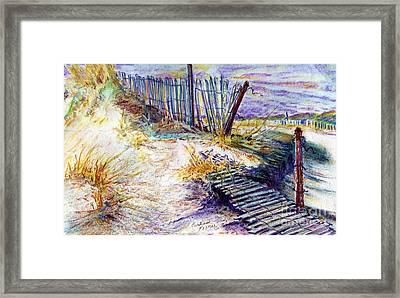 Folly Fences Framed Print by Carliss Prosser