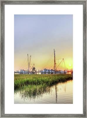 Folly Fishing Boats  Framed Print by Drew Castelhano