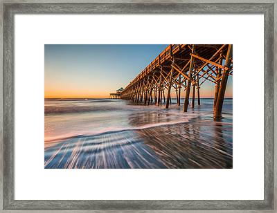Folly Pier Framed Print by RC Pics