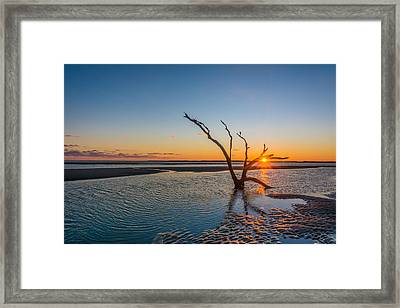 Folly Sunset Framed Print