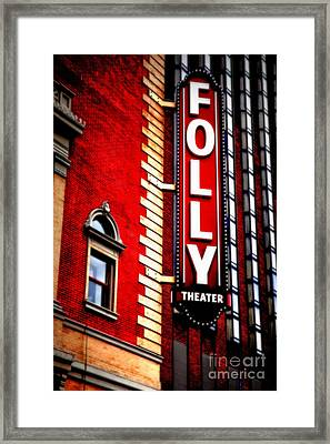 Folly Theater Framed Print