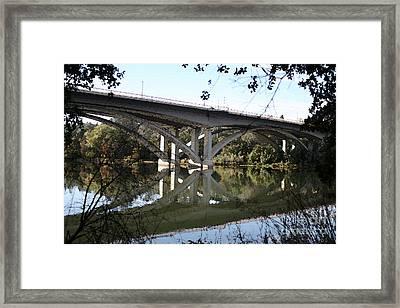Folsom Bridge-watercolor Framed Print by Melanie Rainey