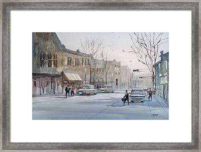 Fond Du Lac - Downtown Framed Print