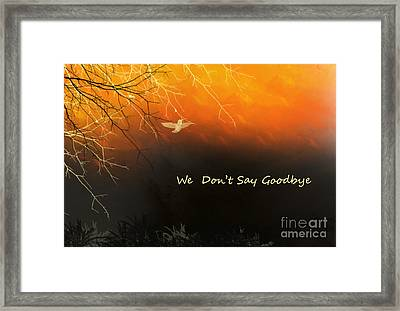 Fond Thoughts Framed Print