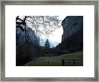Fondue Valley Framed Print by Randall Slinkard